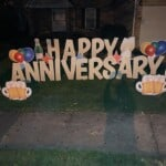 Happy Anniversary Yard Signs   Wedding Anniversary Outdoor Signs