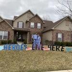 Healthcare Hero Lives Here Yard Sign   Hero Custom Outdoor Yard Signs