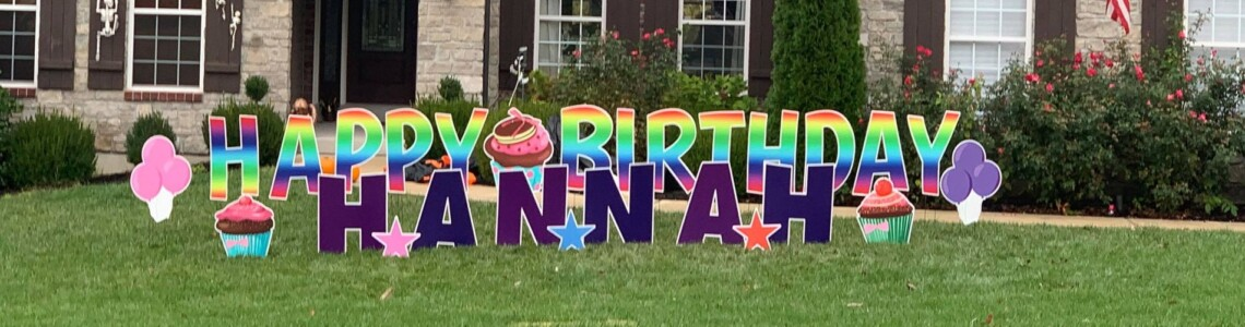 Signs to Celebrate   Happy Birthday Yard Cards