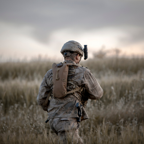 military man in the field