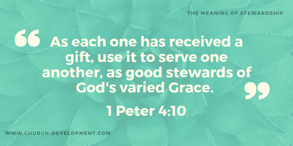 The meaning of stewardship blog