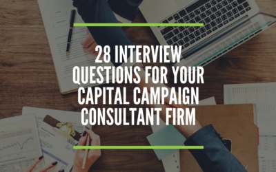 28 Interview Questions for a Fundraising Consultant