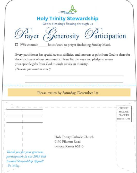 Holy Trinity Church Pledge Card