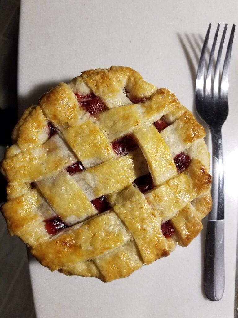 Fresh-baked cherry pie