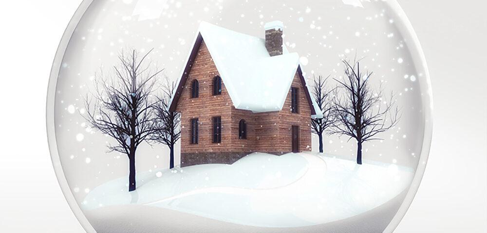 house in snowglobe