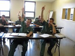 Matt Witten teaching playwriting in prison