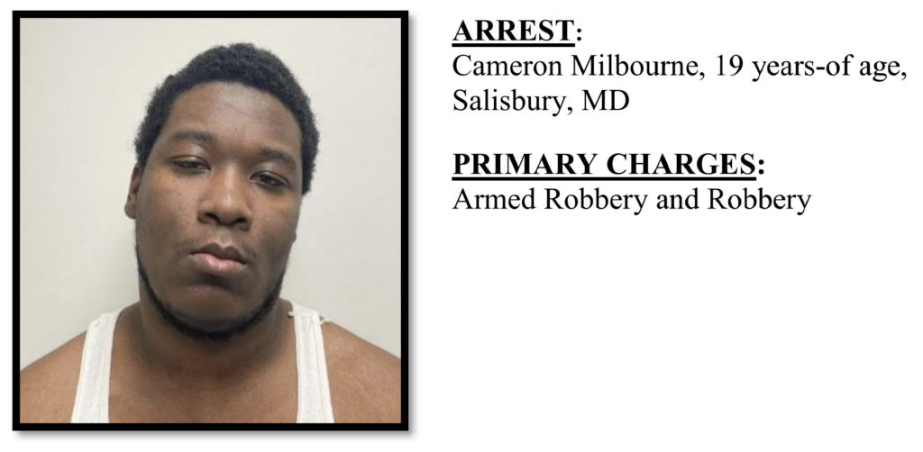 Cameron Milbourne - Suspect in Armed Robbery