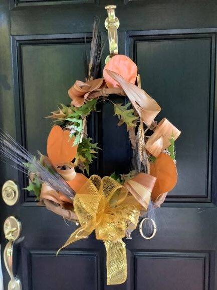 Using Floral Design to Create a Fall Wreath by RGC Blogger Gretchen Collins