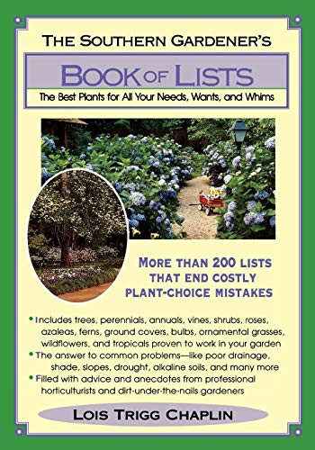 National Garden Week: The Southern Gardener's Book of Lists, A Must Have by RGC Blogger Dotty Etris