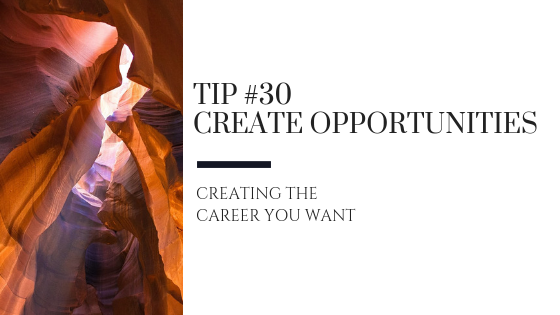 Creating the Career You Want – Tip #30