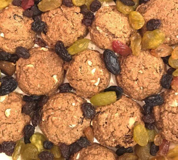 Apple Cinnamon Raisin Cookies Closeup