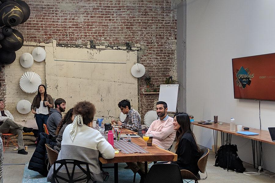 meeting on desk