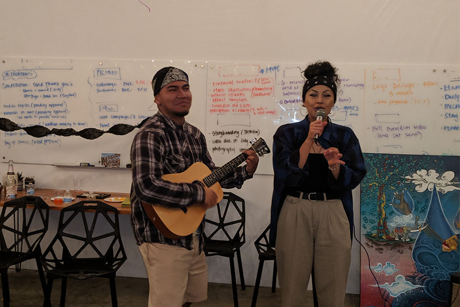 two people performing