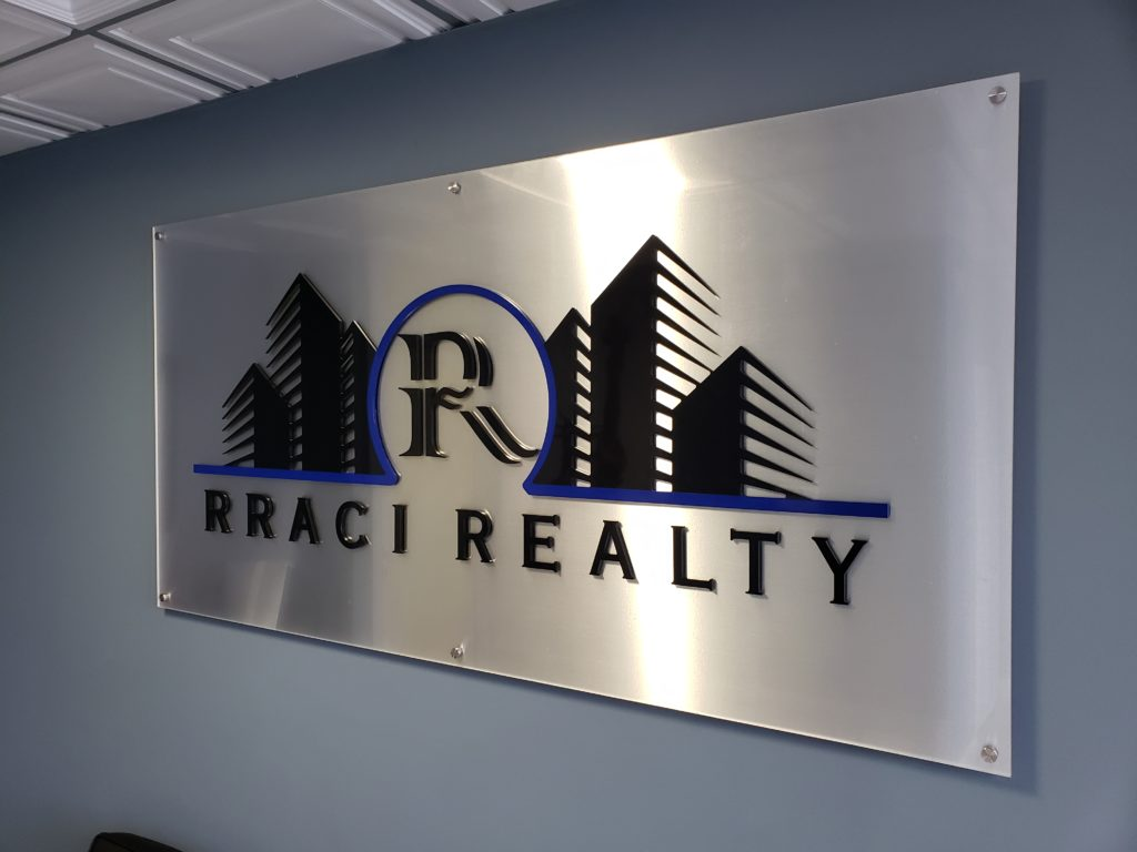 Acrylic lobby Sign with 3D letters in the Bronx NY