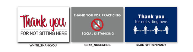 Social Distancing Seating Stickers in Westchester County NY