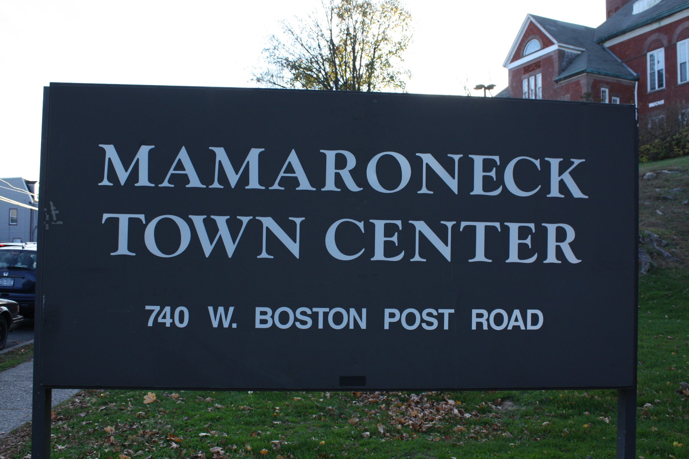 Old Sign for the Mamaroneck Town Center