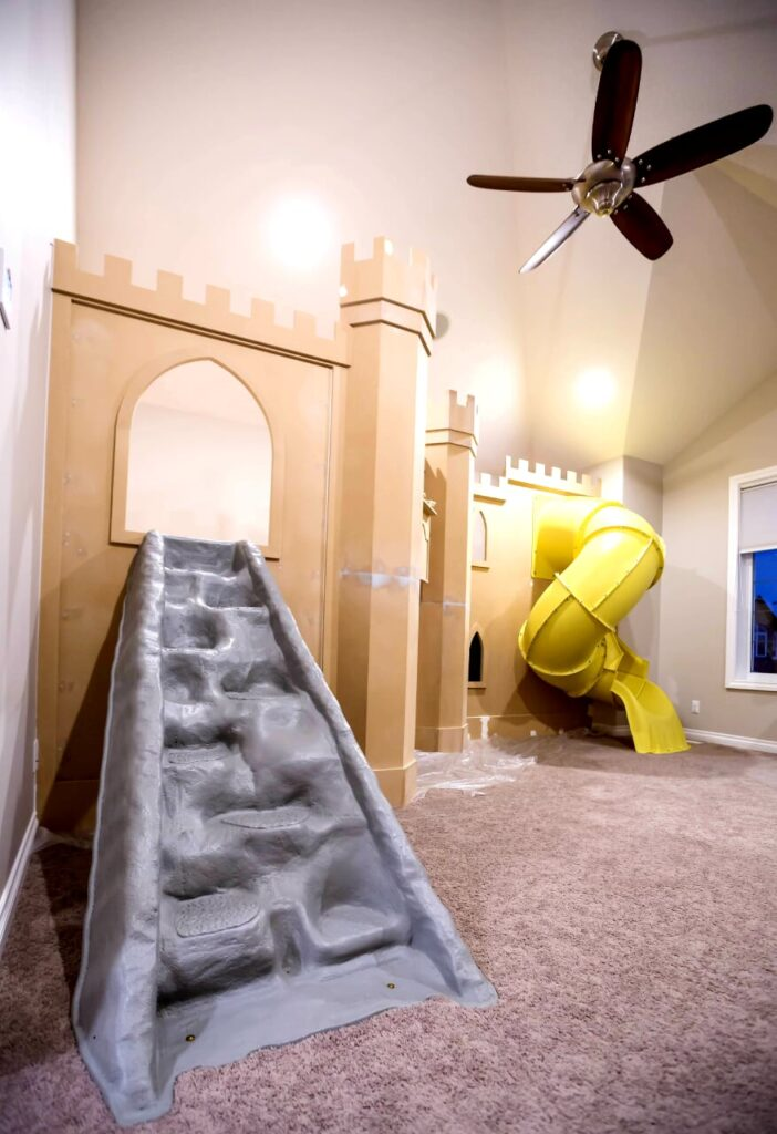 Completed Play-loft Castle - unpainted