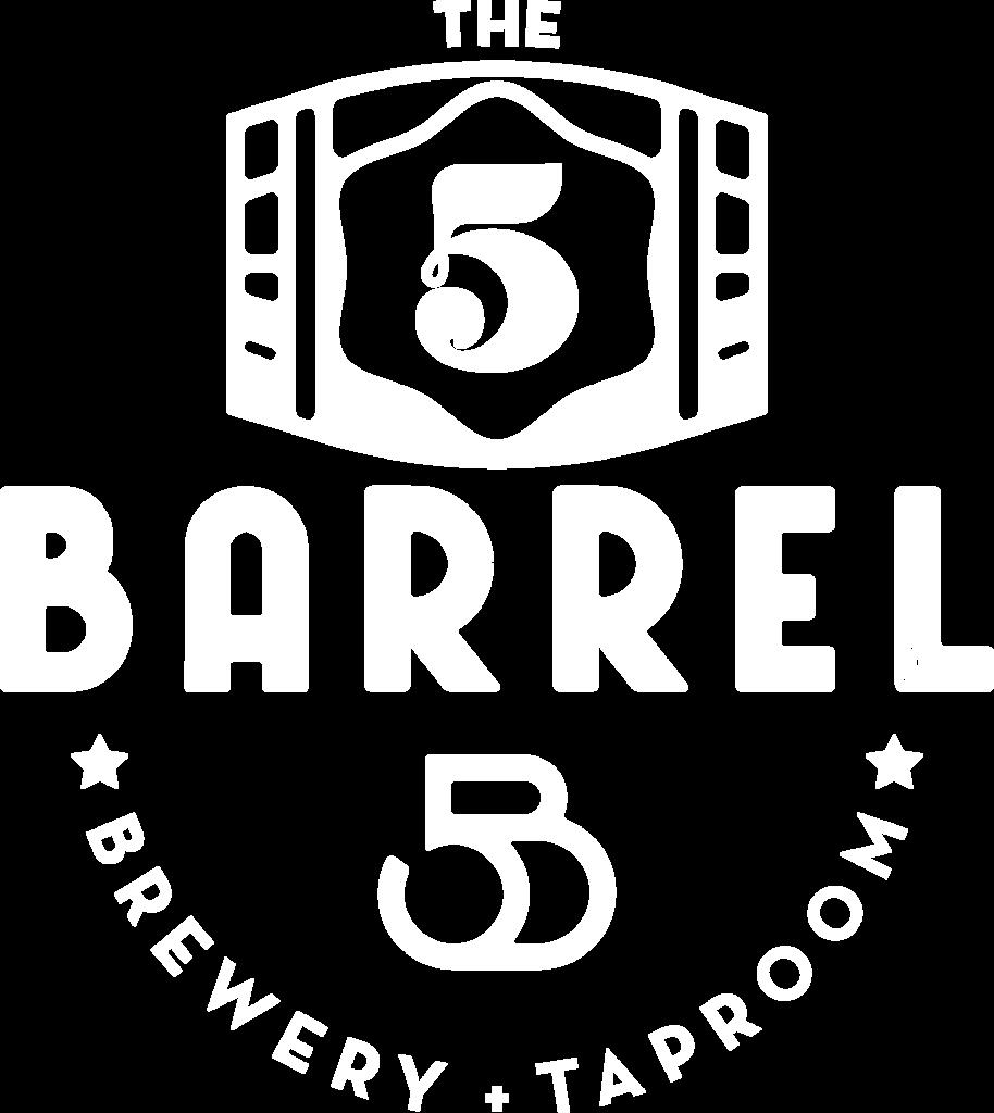 The 5 Barrel Full logo White