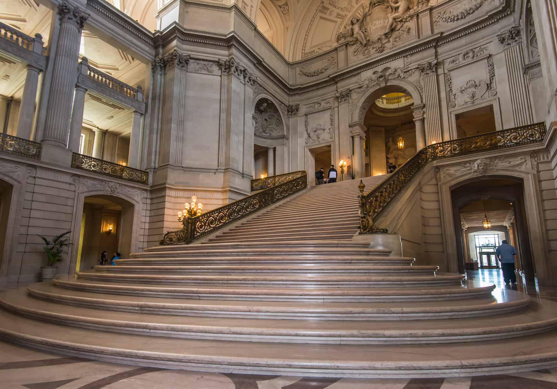 Rotunda and Staircase inside City Hall of San Francisco