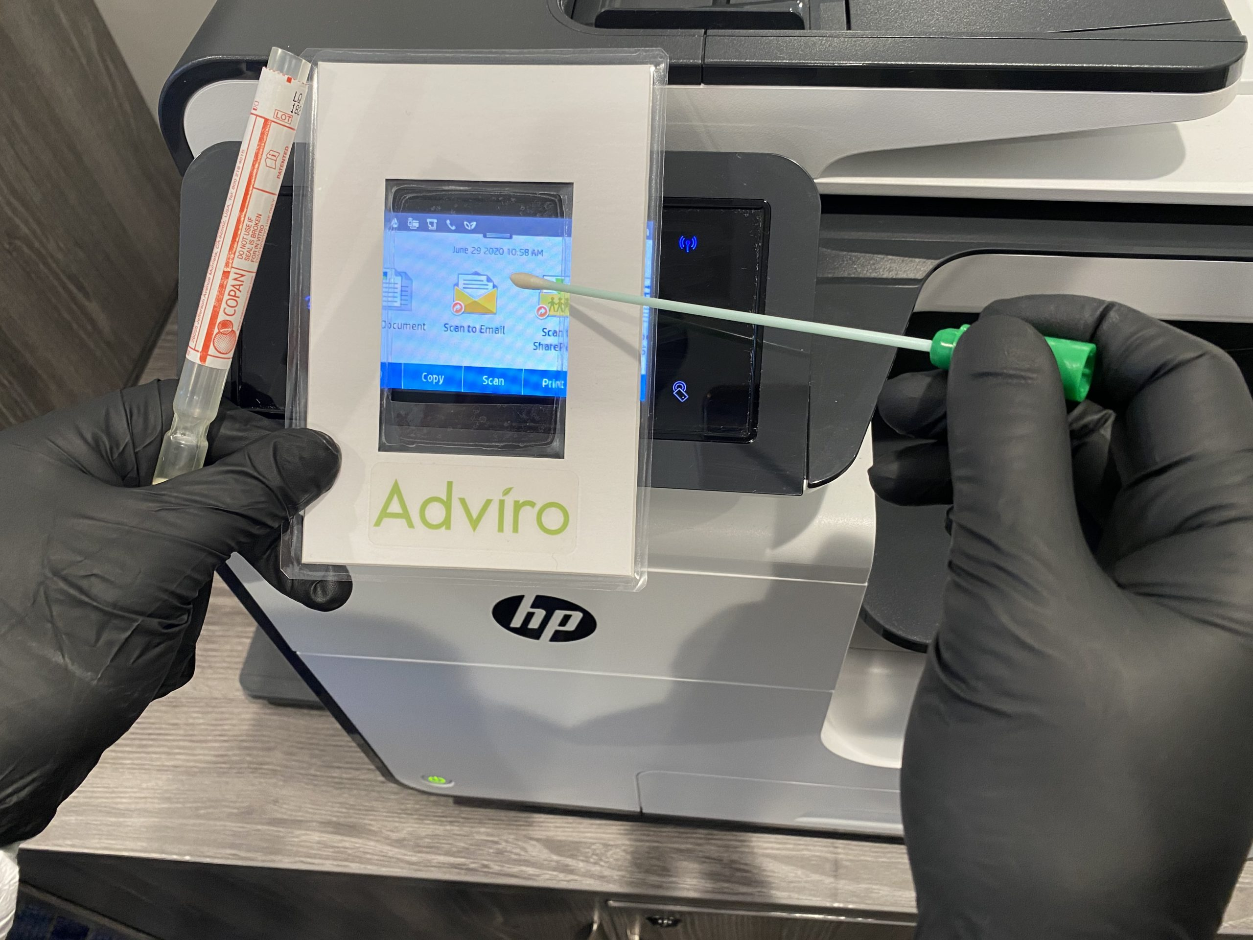 Testing for COVID-19 with a swab