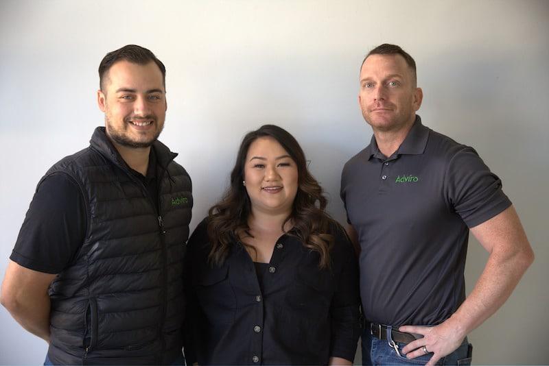 Adviro environmental testing company management team in San Jose, CA