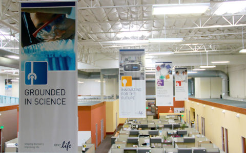 Life Technologies Hanging Fabric Banners