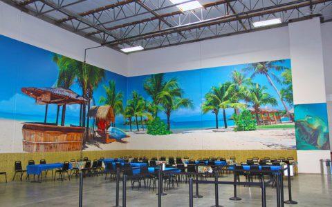 Niagara Adhesive Wall Vinyl for Corporate BreakRoom