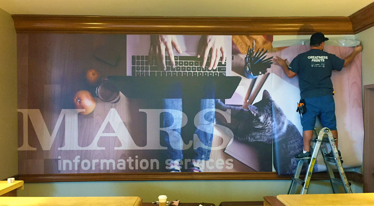 Vinyl Wall Graphic with Install in partnership with Moss Warner