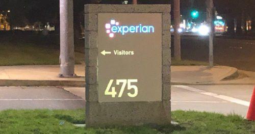 Experian Signage