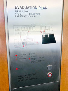 Stainless Steel Replacement Elevator Plate to Match Existing Metal Frame with Print, Cut Outs and Stud Mounts