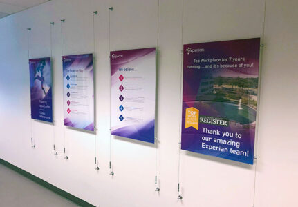 Experian Posters with Wires