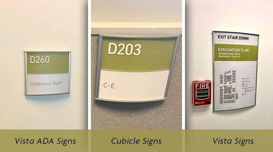 Office Vista Signs