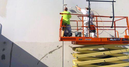 Spray Painting the Exterior