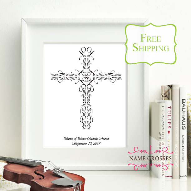Confirmation Cross gift by Name Crosses - www.namecrosses.com