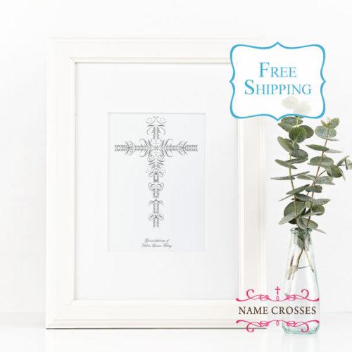 Family cross gift by Name Crosses - www.namecrosses.com