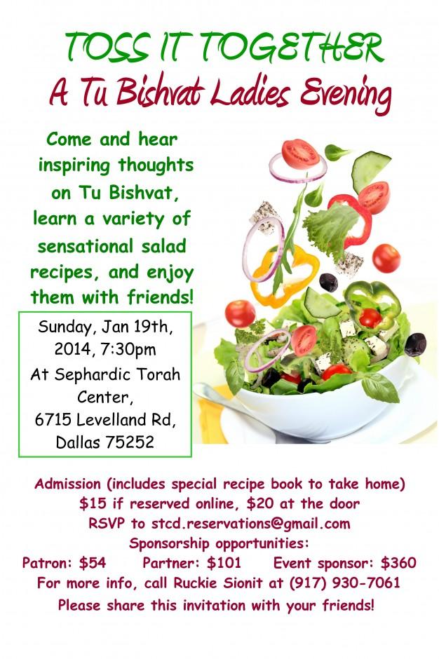 Tu Bishvat salad Flier