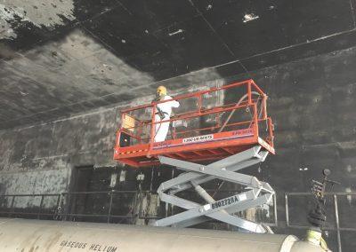 SpaceX Complex 40 - Sweep Blasting