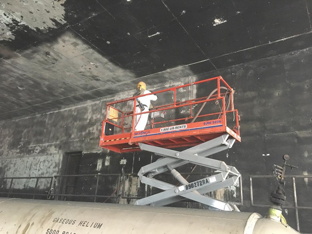 SpaceX - Sweep Blasting
