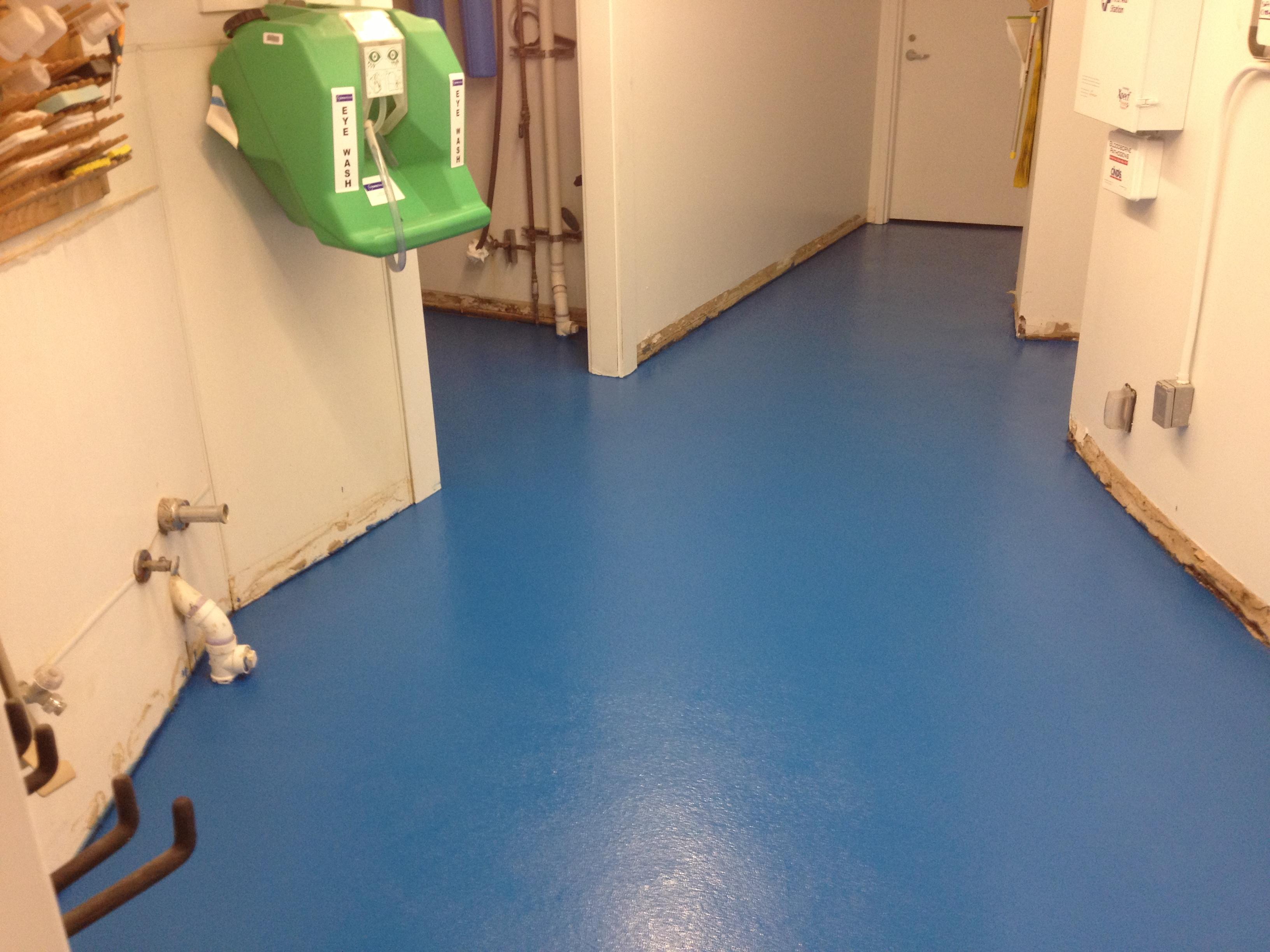 Floor Coatings - Locker Room