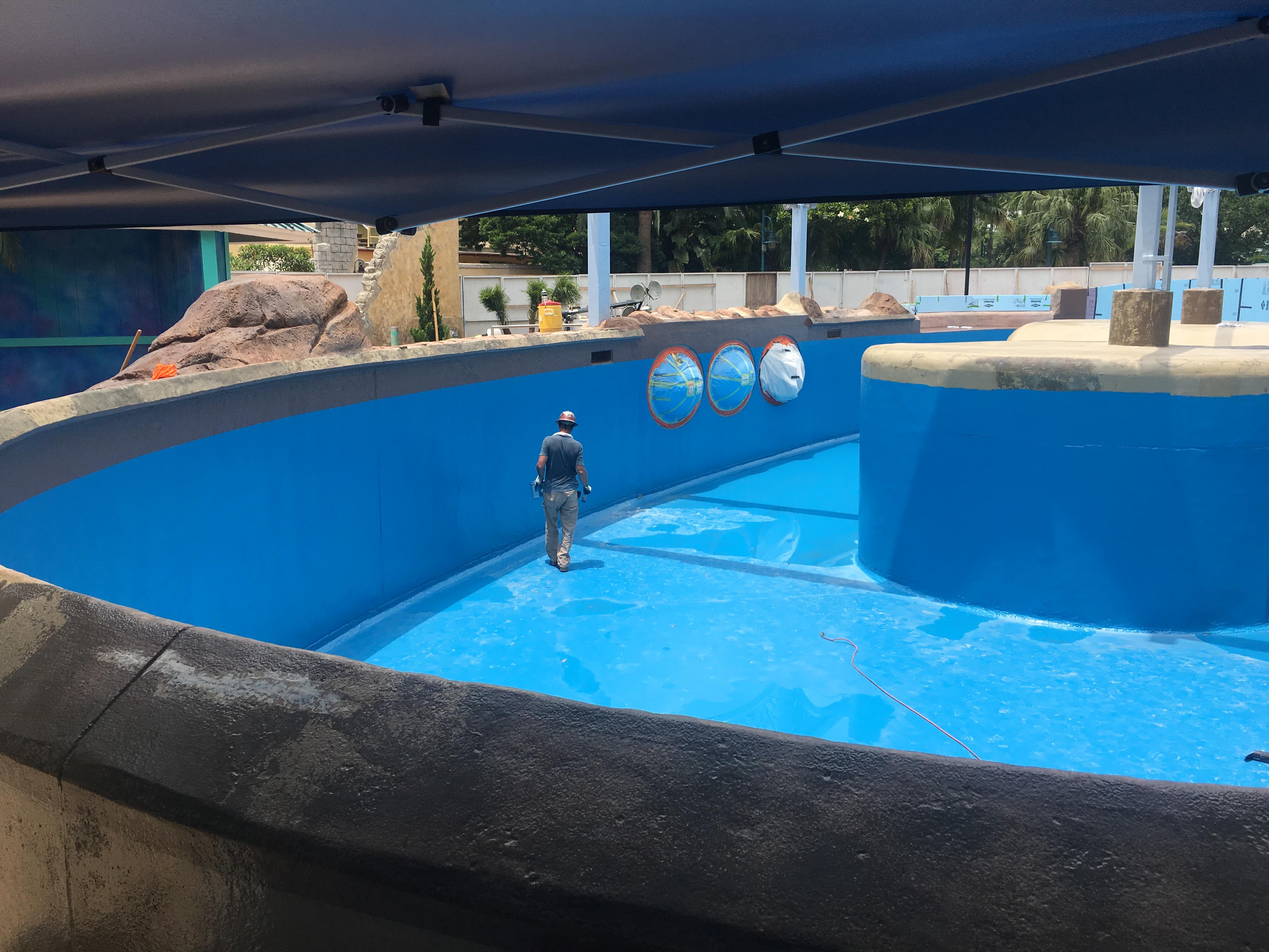 Waterproofing - SW Dolphin Nursery Pool