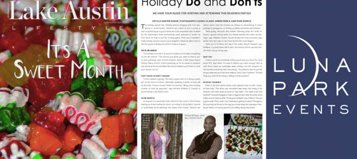 Lake Austin Magazine: Holiday Do's and Dont's