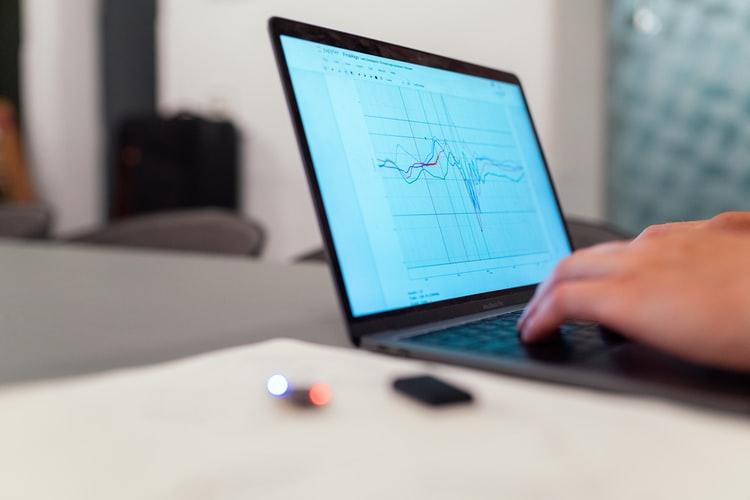 finance model on computer