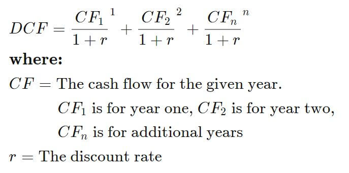 Discounted Cash Flow Formula