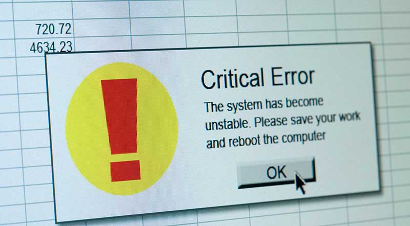 Excel critical financial model error