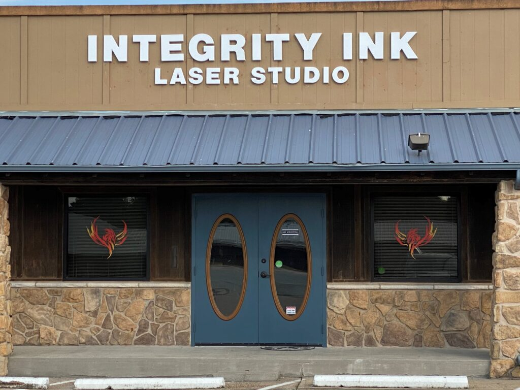 Integrity Ink Laser Tattoo Removal Front Door Sign