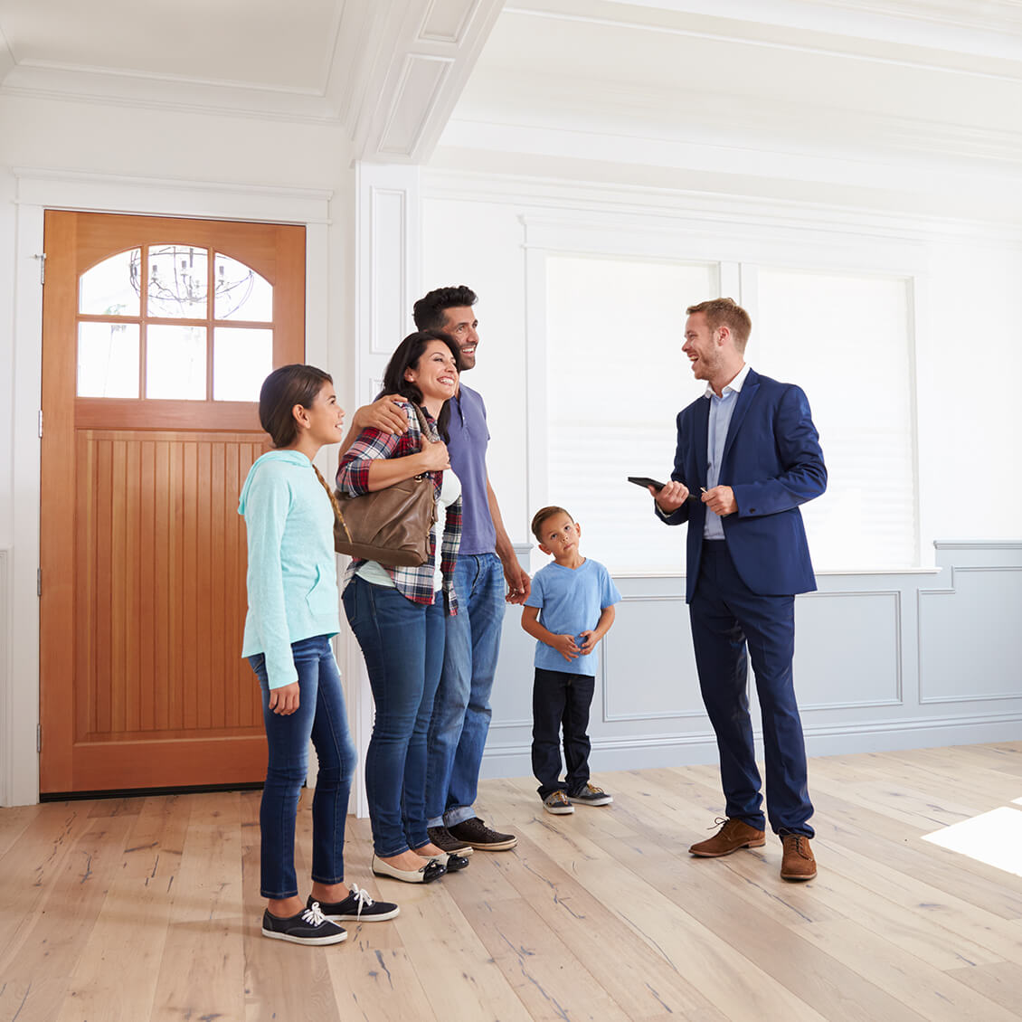 Family Buying New Home