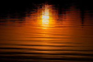 sunset, abstract, pattern, water, ripples, reflection