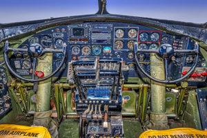 airplane, cockpit, B-17, Flying Fortress, WWII
