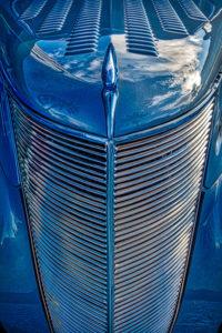 classic, car, automobile, hood, ornament, Blue, grill