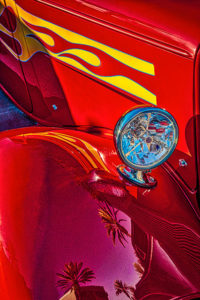 classic, car, automobile, red, hot rod, vintage